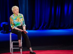 Neither laryngitis nor repeated microphone fails could keep Dame Stephanie Shirley from her TED Talk