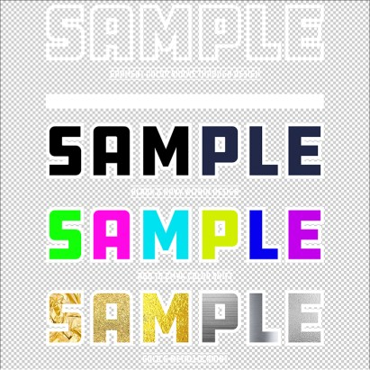Sample Design on Transparent Background