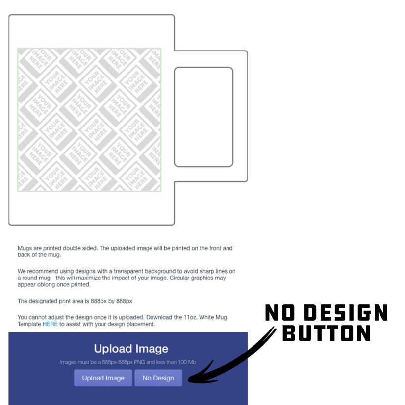 No Design Button