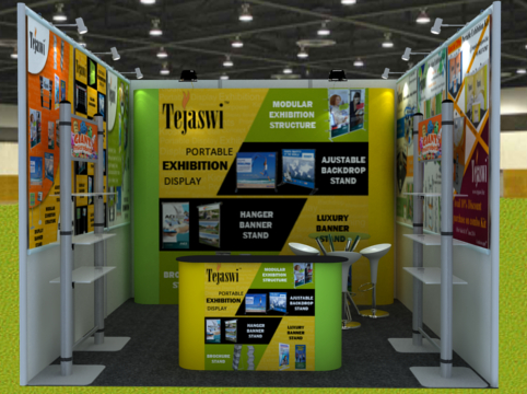 Tips for making small exhibition stall of size 3 mtr x 3 mtr / 4 mtr x 3 mtr attractive