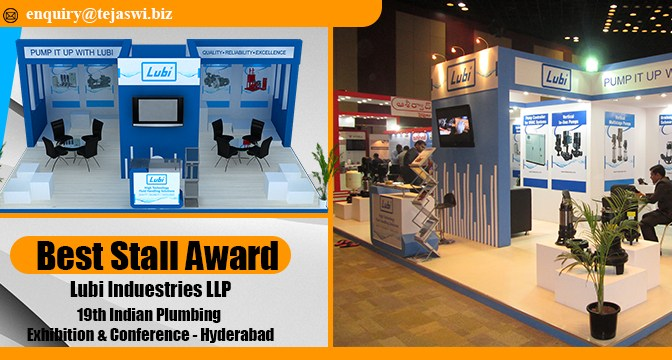 Indian Plumbing Exhibition & Conference awarded Best Exhibition Stall Award to Lubi Industries LLP