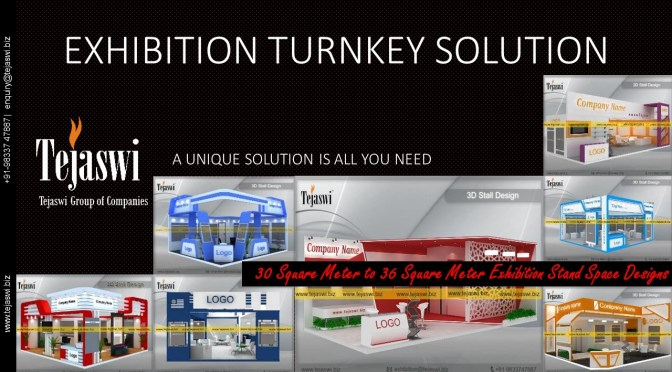 Exhibition Stall Design Solution – 30 Square Meter to 36 Square Meter Exhibition Stall
