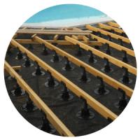 terrasse bois structure lambourdes accessoire pose plot PVC