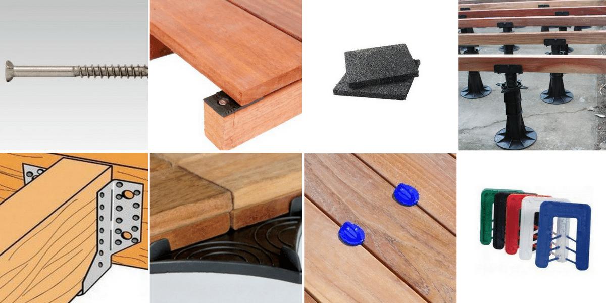 finest accessoires de pose pour terrasse bois visserie. Black Bedroom Furniture Sets. Home Design Ideas
