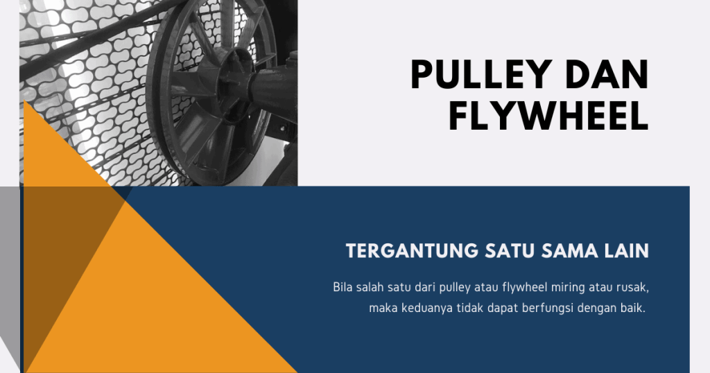 Pulley & flywheel yang miring bisa menyebabkan kompresor angin bergetar