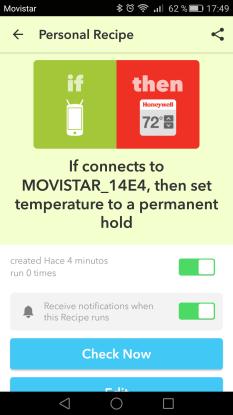 IFTTT notification