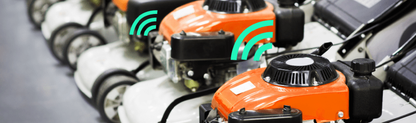 Internet connected lawnmowers