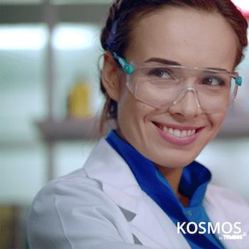 Smiling scientist