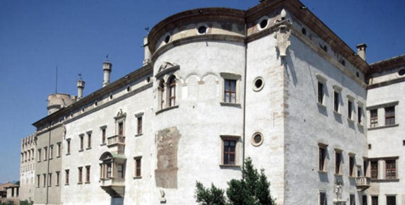 Side angle view of the Castello del Buonconsiglio