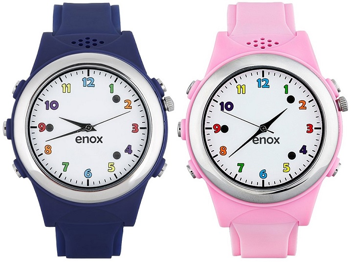 Connected products example: Two Enox Safe-Kid-One watches