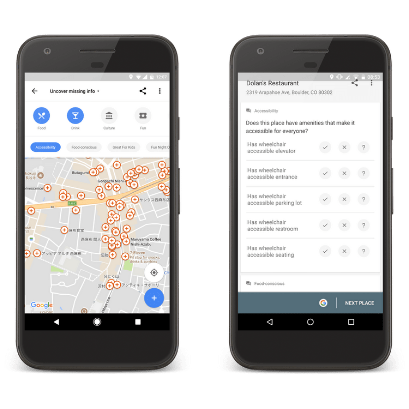 Photos of Google Maps App View for Local guides