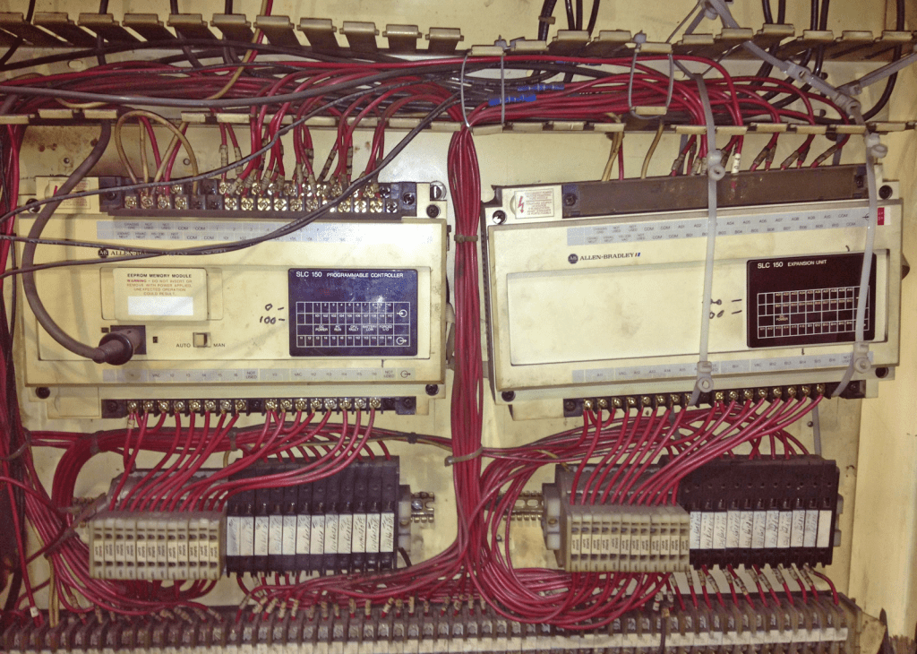 An old PLC system