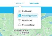 Create application drop down menu