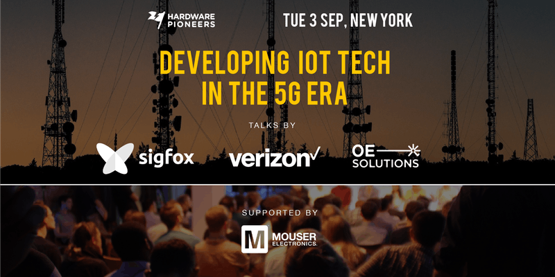 Developing IoT Tech in the 5G Era event banner