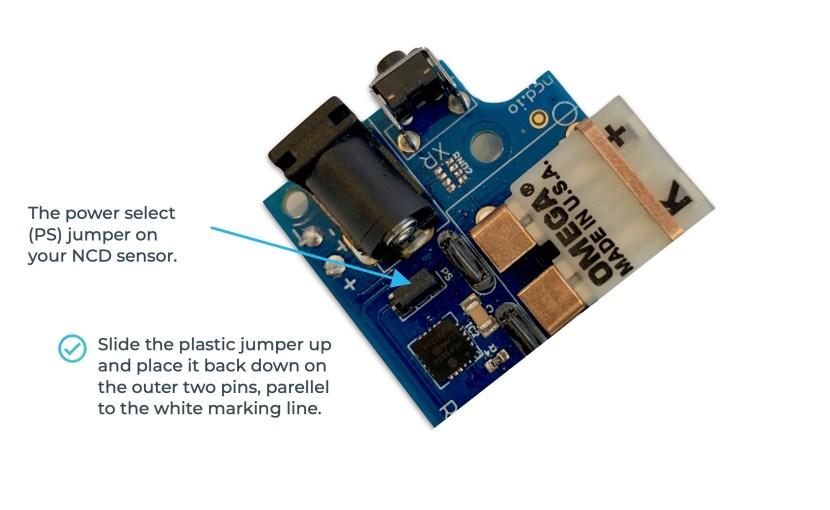How to power on NCD sensor