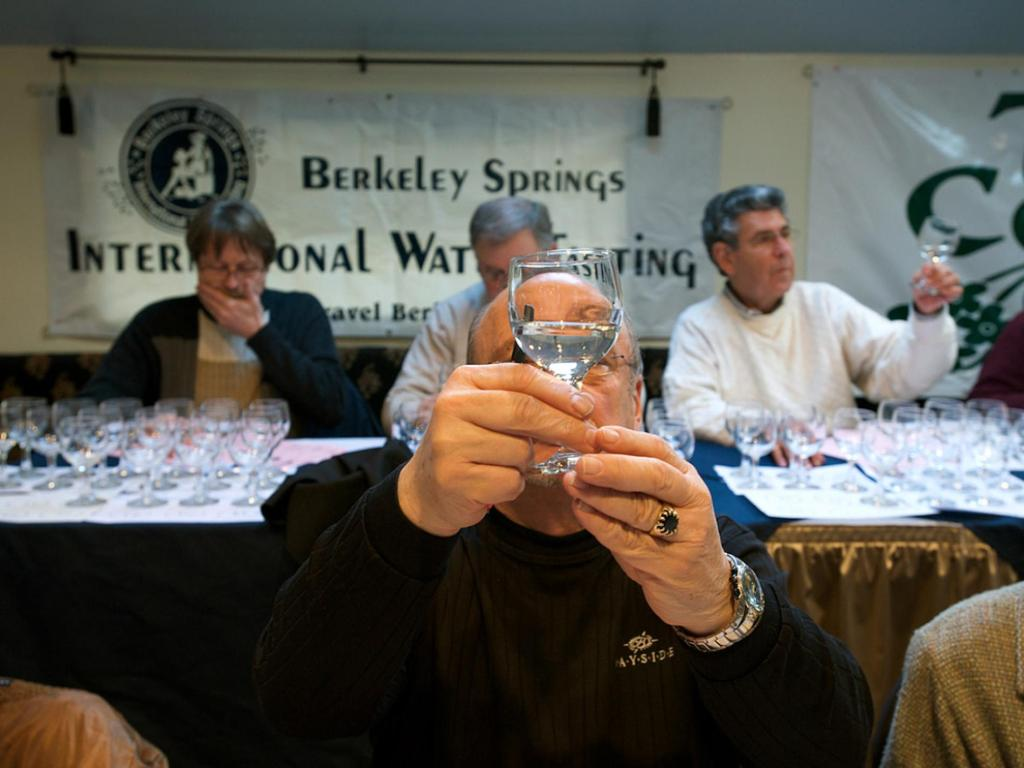 Water judging during the Berkeley Springs International Water Tasting