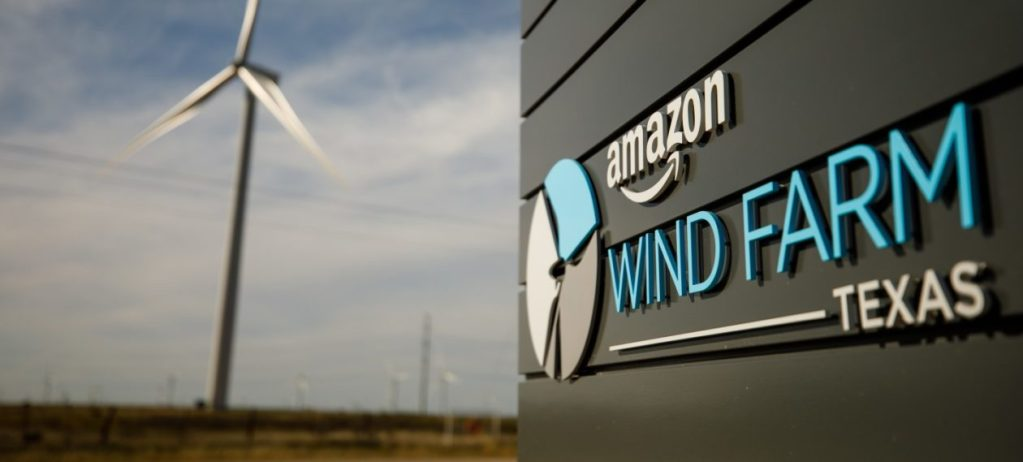 Photo of an Amazon wind farm in Texas