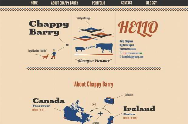 infographic driven website design