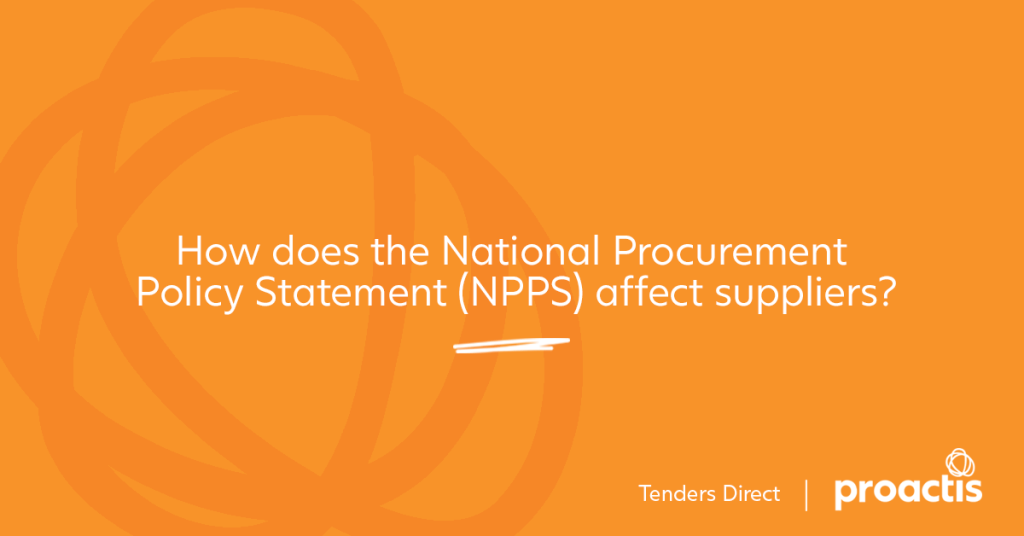 How does the National Procurement Statement affect suppliers?