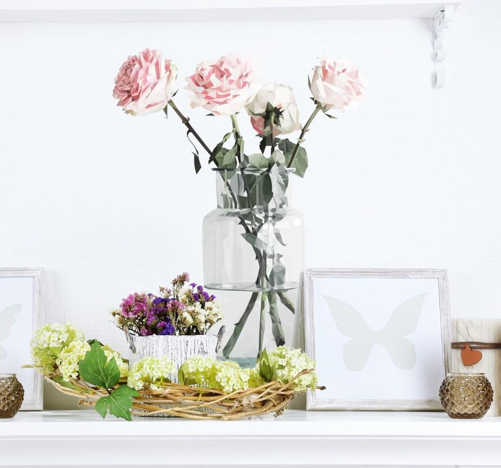 Vinilos de flores para decorar tu casa en primavera