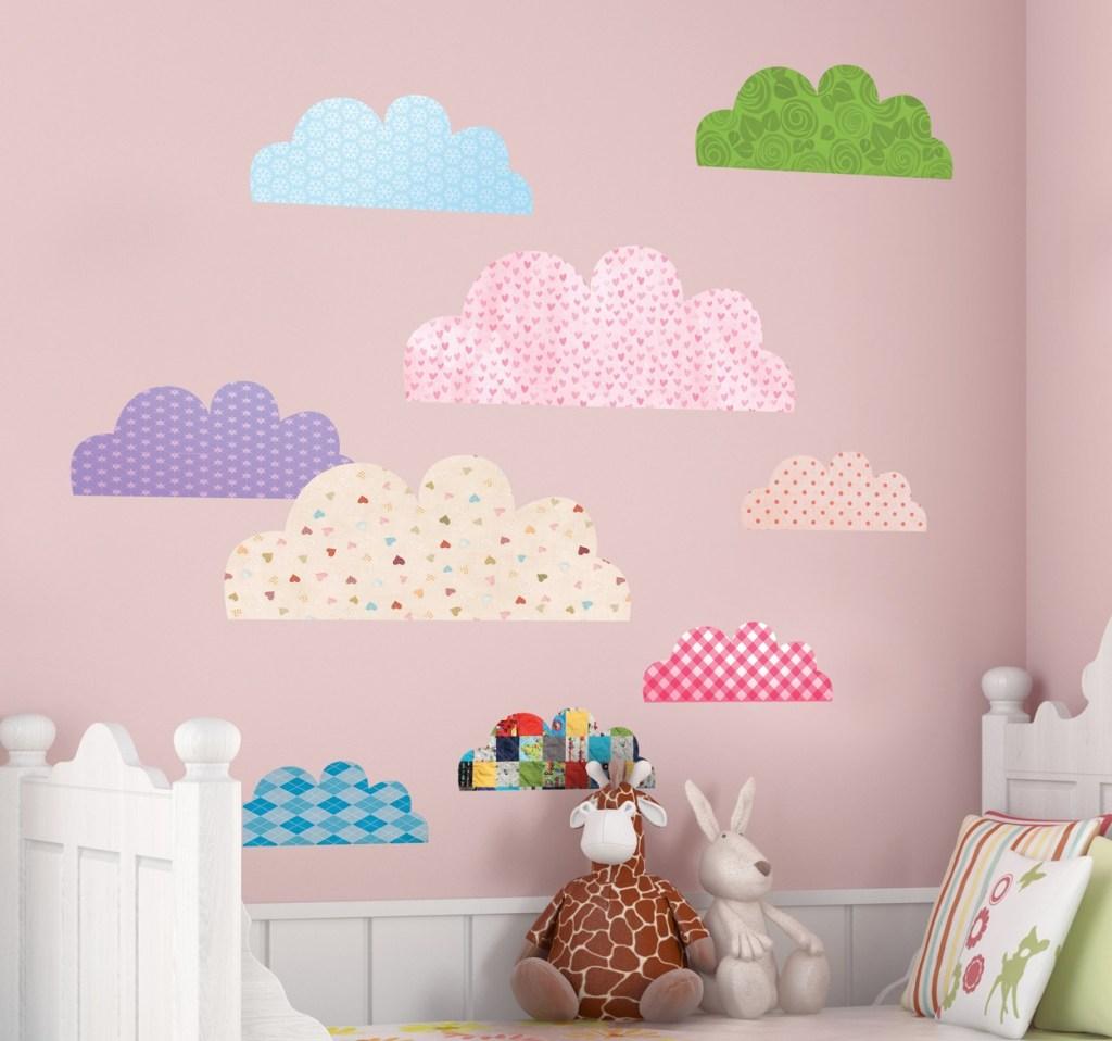 habitacion de bebe nubes