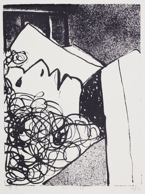 John Foster. Untitled – from the 'Forceps Delivery' series. 1978. Lithograph on paper. Purchased 2015. Te Papa (2015-0026-4)