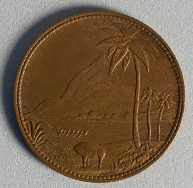 Reverse of token issued by John Gilmour, New Plymouth, maker unknown. Te Papa (NU002491)