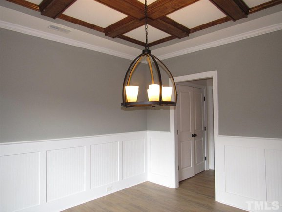 formal dining room of 46 oak hollow court in clayton.