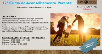 Novo Curso de Aconselhamento Parental ! Abertas as inscrições (no ISPA)