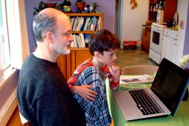 TESOL Professional attending a webinar in pajamas