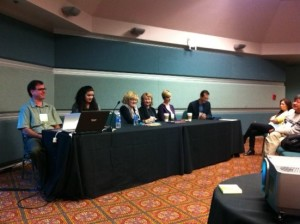 Luciana on a panel at CATESOL.