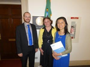 Yilin with two WAESOL colleagues, Adam Sweeney and Julie Baumgartner