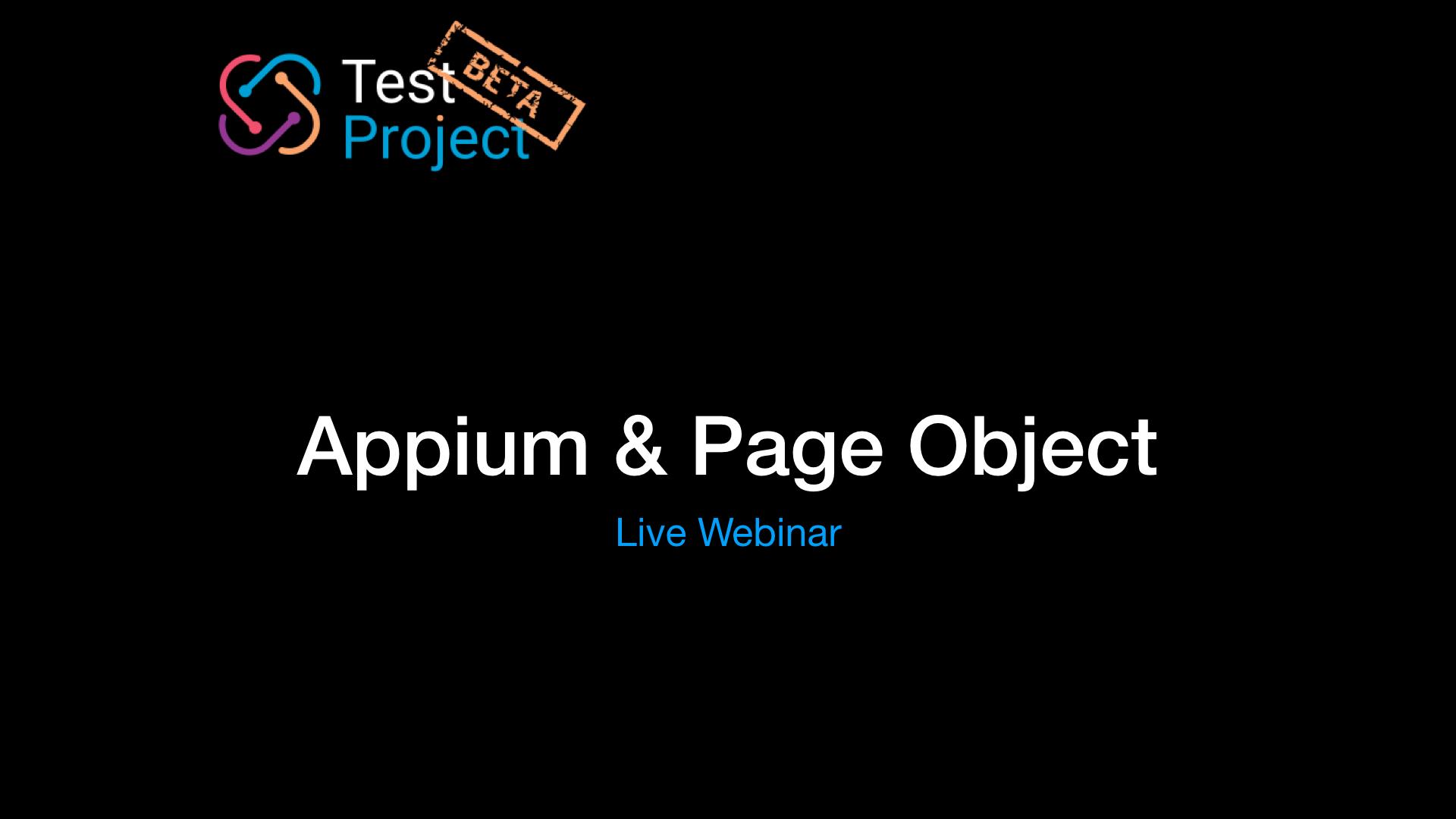 Appium & POM   TestProject