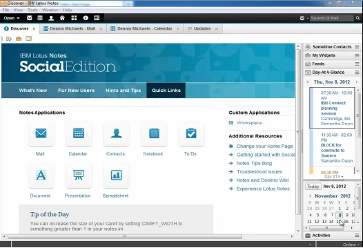 IBM Notes 9.0 Social Edition - Welcome Screen