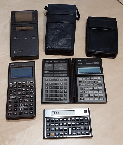 My collection of HP calculators and printers.