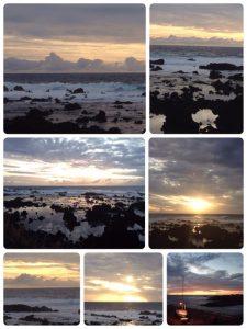 モアイ像で有名なイースター島の夕陽です。