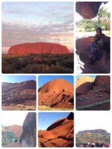 エアーズロックは、世界で二番目に大きな単一の岩石(世界一は西オーストラリア州にあるマウント・オーガスタス)。 エアーズロックは『世界の中心』という意味合いで「大地のヘソ」もしくは「地球のヘソ」と呼ばれることもあります。 アボリジニの聖地であり、アボリジニ語で「ウルル」と呼ばれてきました。 1987年にウルル(エアーズロック)=カタ・ジュタ国立公園」として、世界遺産に登録されました。 エアーズロック周辺は、ハエが多くて大変でした。(o_o)