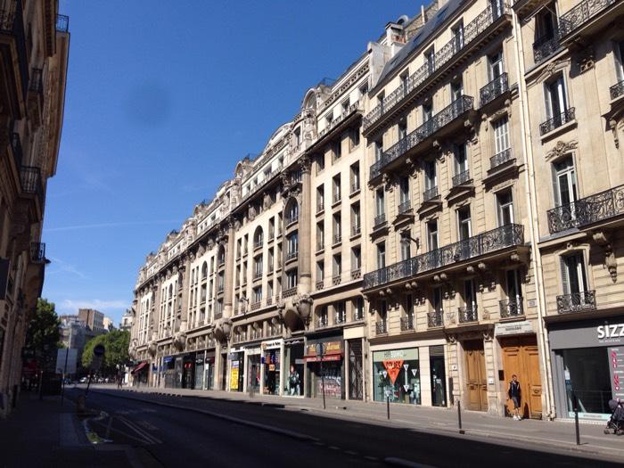 パリの街並み。