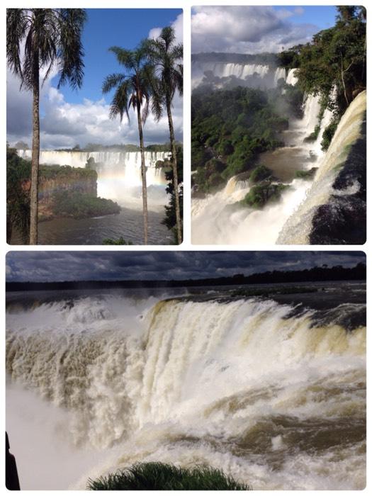 アルゼンチンとブラジルから見た、イグアスの滝
