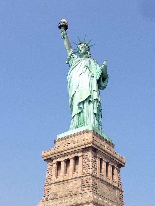 自由の女神。