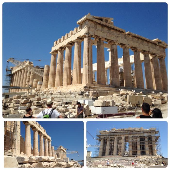 世界遺産。パルテノン神殿。