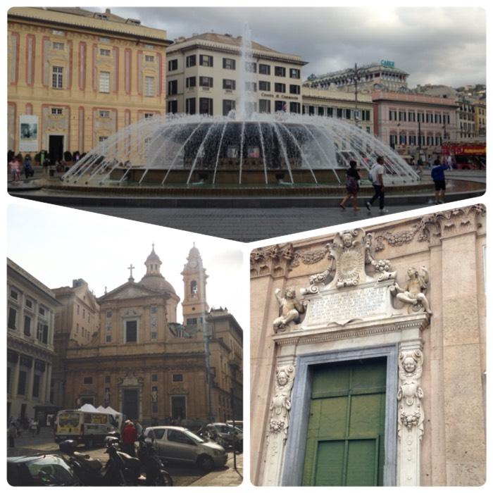 フェラーリ広場とジェズ教会。