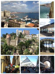 イタリアの民謡である「サンタルチア」でも知られている、ナポリの観光名所です(左上)。 その他、サンタルチア付近の風景です。