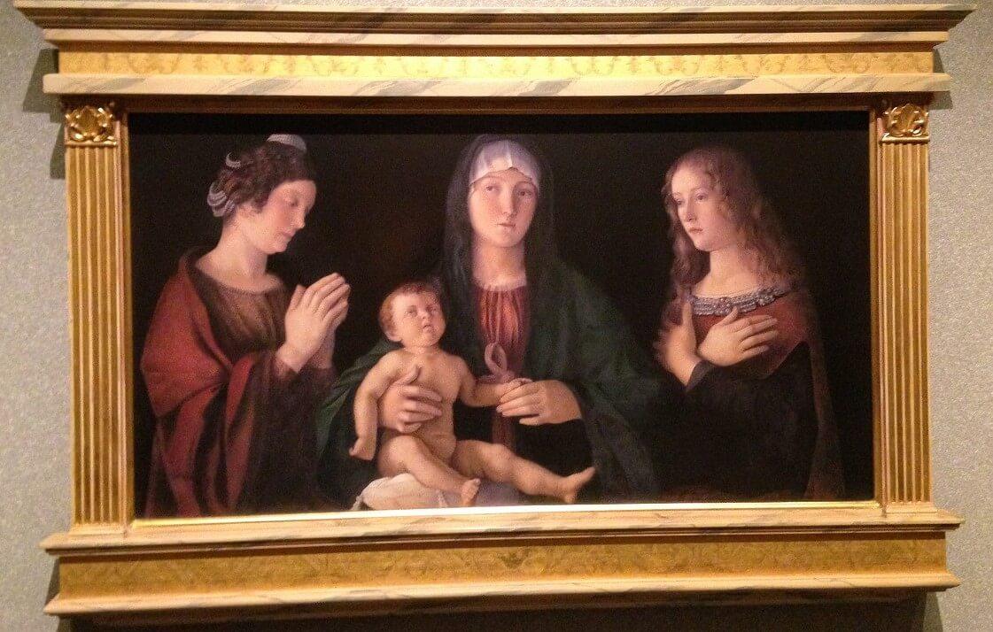 聖母子と聖女カタリナとマグダラのマリア