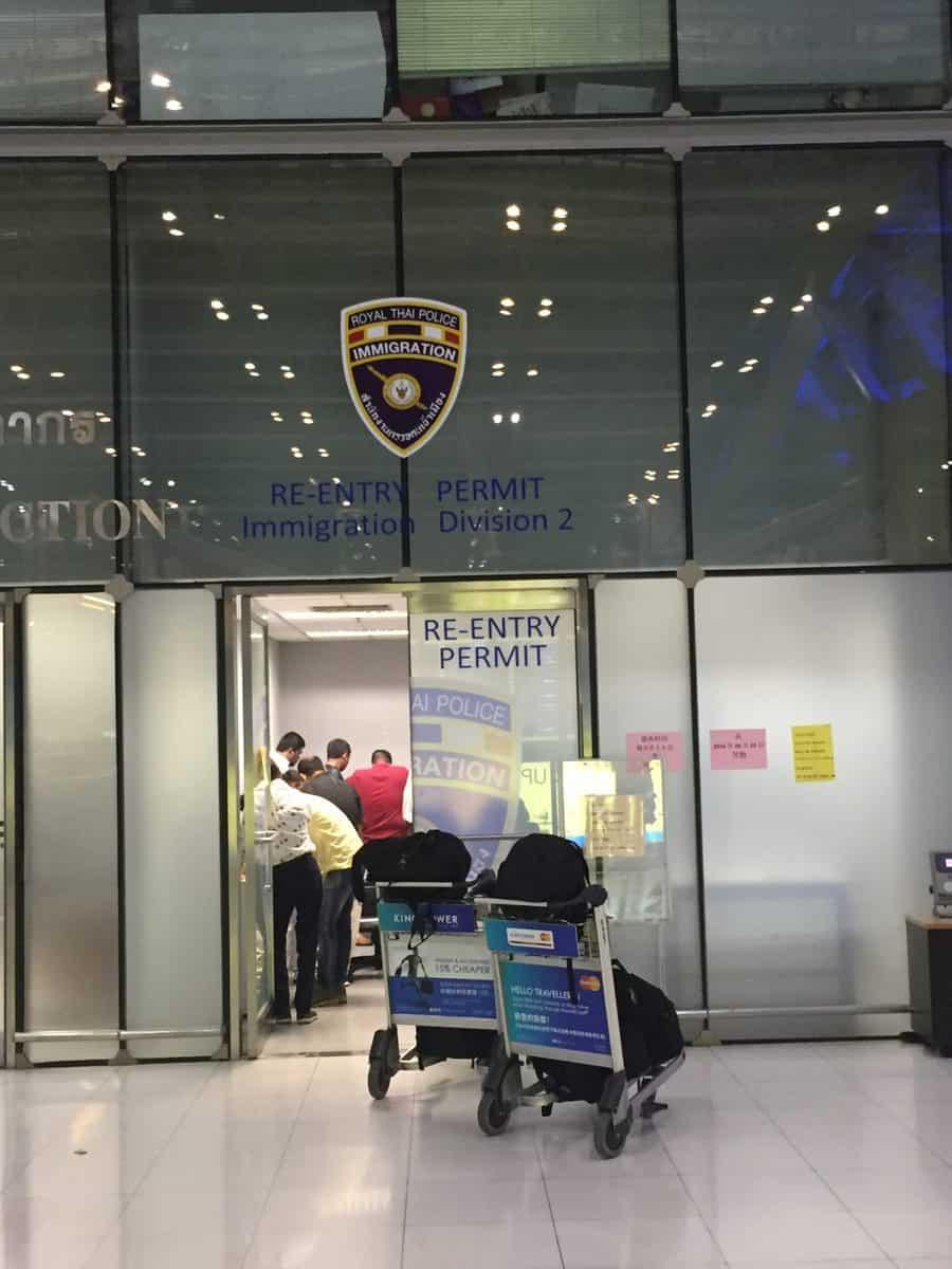 4月20日よりスワンナプーム空港でのリエントリービザの受付時間と場所が変更になります。