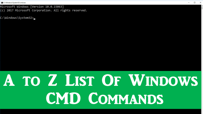 A to Z List Of Windows CMD Commands You Need To Know