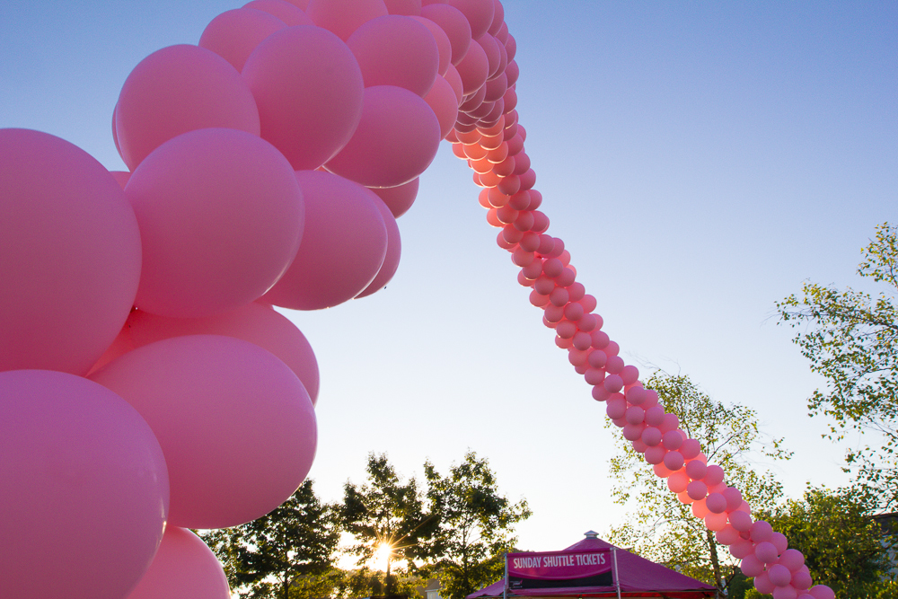 pink balloon arch 2013 Boston Susan G. Komen 3-Day Breast Cancer Walk
