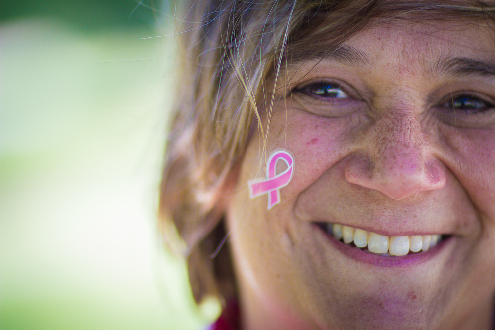 pink ribbon tattoo 2013 Cleveland Susan G. Komen 3-Day breast cancer walk