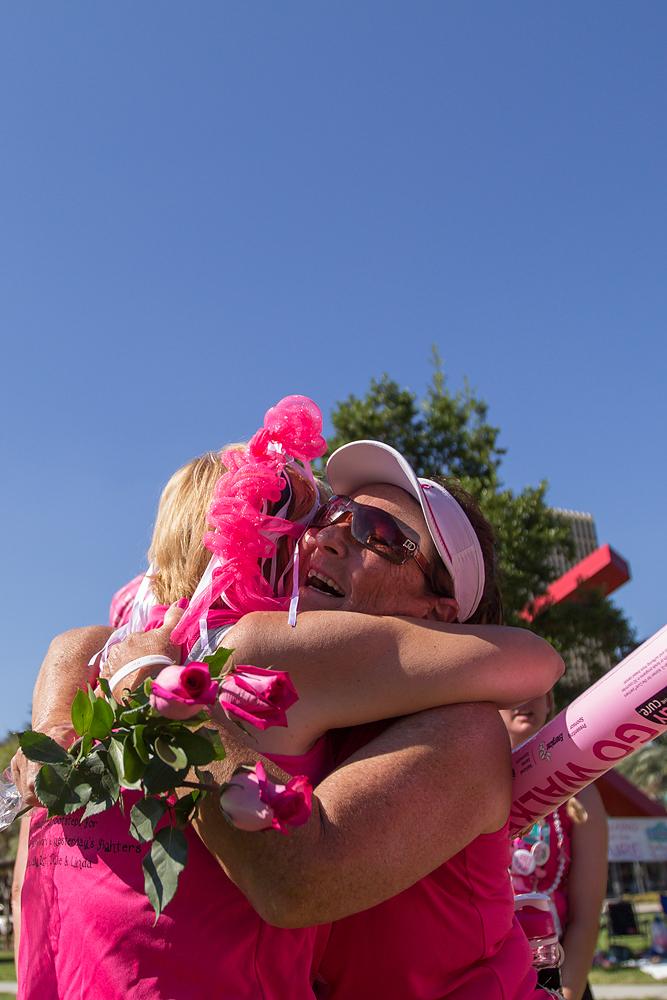 hug closing 2013 Tampa Bay Susan G. Komen 3-Day breast cancer walk