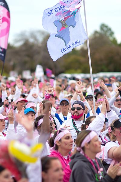 closing pink beard 2013 Dallas Fort Worth Susan G. Komen 3-Day breast cancer walk